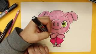 getlinkyoutube.com-COMO DIBUJAR A ROSITA DE SING KAWAII PASO A PASO - Dibujos kawaii faciles