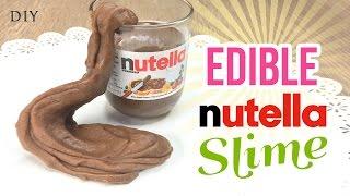 getlinkyoutube.com-Make EDIBLE Nutella Slime!!! Delicious & Easy DIY Slime/Playdough Recipe with Just 3 Ingredients!