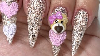 getlinkyoutube.com-Valentines Day Stiletto Nails