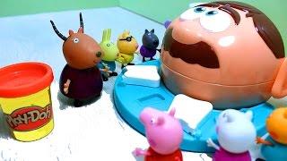 getlinkyoutube.com-Peppa Pig. Свинка Пеппа и мистер Зубастик -  набор Play - Doh. Мультфильм с игрушками .