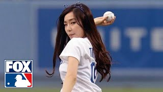 getlinkyoutube.com-Tiffany Hwang Throws Worst First Pitch Ever