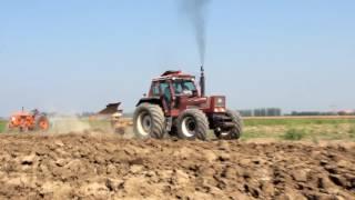 getlinkyoutube.com-FiatAgri 160-90(Nafta Power) & Case IH Magnum 310 Plowing With Moro Plow [2016]