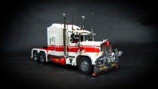 getlinkyoutube.com-Lego Motorized Kenworth Road Train
