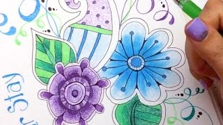 How to Blend Gel Pens with Colored Pencils