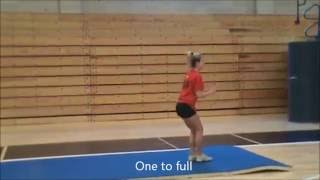 getlinkyoutube.com-Taylor Johnson Quinnipiac Acrobatics and Tumbling Recruit Video