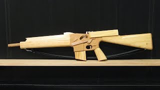 getlinkyoutube.com-[rubber band gun] blowback M16A1