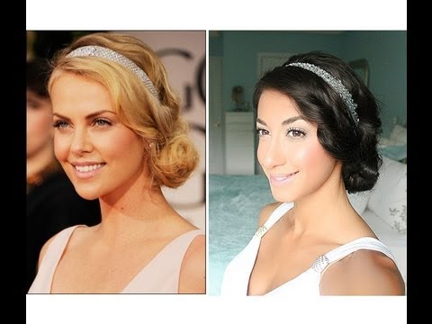 Charlize Theron Golden Globes 2012 Inspired Hair