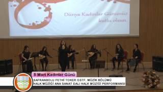 Karabük Üniversitesi Kadınlar Günü Halk Müziği Performansı