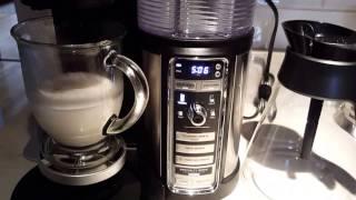 getlinkyoutube.com-Ninja Coffee Bar and Cappuccino making in action