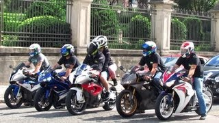 getlinkyoutube.com-Suzuki GSXR 750 Burnout, BMW S1000RR, CBR 600RR & Hornet, Yamaha R1 & R6, Daytona 675