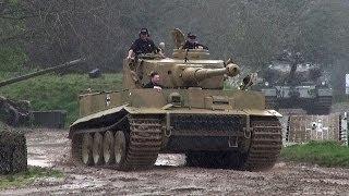 getlinkyoutube.com-Tiger Tank 131 Sounding Great In The Mud and Rain.