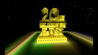getlinkyoutube.com-20th Century FOX intro in Minecraft