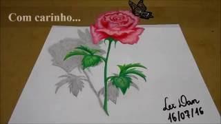 getlinkyoutube.com-Como desenhar uma rosa em 3D Completo