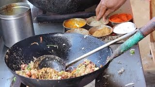 getlinkyoutube.com-chicken fried rice preparation  - Balaji chicken stall Indian street food