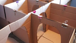 getlinkyoutube.com-HOW TO MAKE A BOX MAZE FOR KIDS: CRAFTS FOR KIDS! | BOX HOUSE FOR KIDS