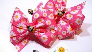 getlinkyoutube.com-DIY. Самый быстрый ,бантик канзаши из репсовой ленты .the fastest bow kanzashi ribbon lacings from