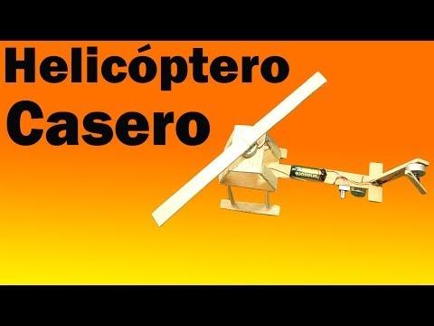 Como hacer Un Helicóptero Eléctrico Casero (Fácil de hacer)