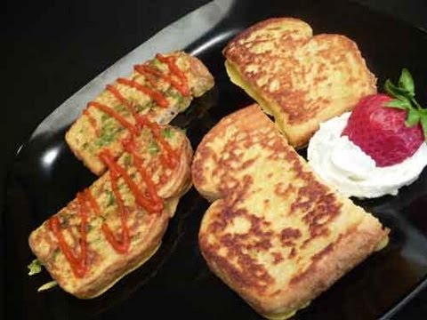 Eggless French Toast - Sweet or Savory