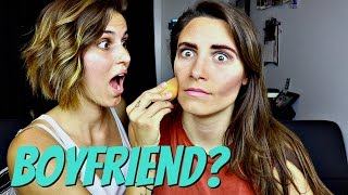 My boyfriend does my Makeup *it sucked*