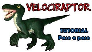 getlinkyoutube.com-Como hacer un dinosaurio velociraptor de plastilina / How to make a velociraptor dinosaur clay
