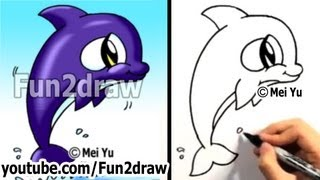 getlinkyoutube.com-How to Draw a Cartoon Orca - How to Draw Cute Animals Easy Things - Fun2draw Art lessons