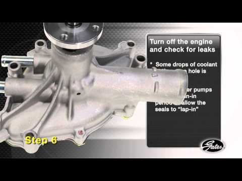 Gates Cooling System Part 3 Water Pump Installation
