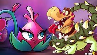 getlinkyoutube.com-Plants Vs Zombies 2 - Modern Day Part 2 Blooming Heart Vs Jurassic Marsh World Dinosaurs!