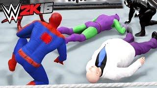 getlinkyoutube.com-SPIDERMAN VS GREEN GOBLIN VS VENOM VS CARNAGE VS ELECTRO VS KINGPIN | WWE 2K16