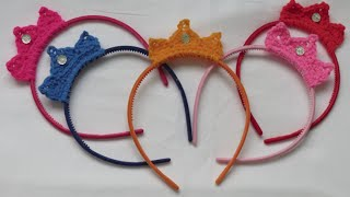 getlinkyoutube.com-كروشيه تاج | Crochet Tiara
