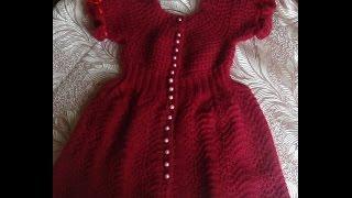 getlinkyoutube.com-Платье на девочку СПЕЛАЯ ВИШНЯ. Часть 1. Knitting dress for girls