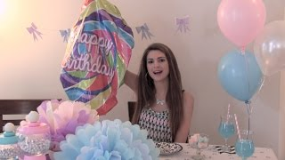 getlinkyoutube.com-DIY Party Decor & Treats - Photo Booth, Tissue Paper Pom Poms, Bow Garland, Yogurt Bark & More!