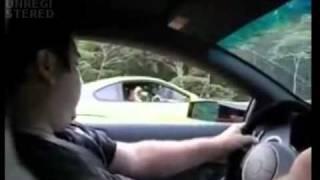 getlinkyoutube.com-Toyota Supra toying with a Lambo Murcielago