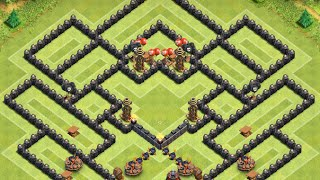 "getlinkyoutube.com-Clash of Clans - Th9 Hybrid Base! ""The Temple"""