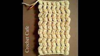getlinkyoutube.com-كروشيه كوفية او شال بغرزة الباف | #كروشيه_كافيه# Crochet Cafe