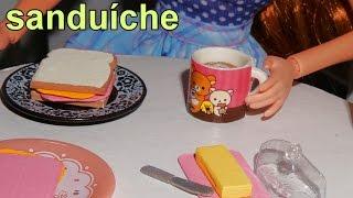 getlinkyoutube.com-Como fazer um sanduíche (comida) para bonecas Barbie e outras - miniatura faça você mesmo *fácil*