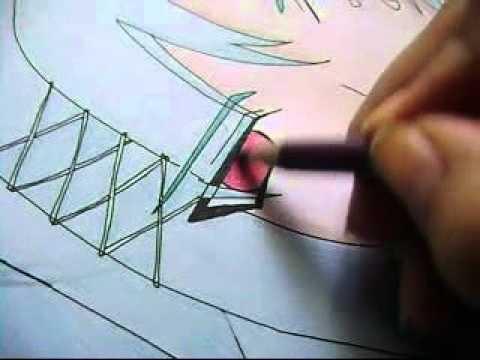 Como colorear un dibujo MANGA ANIME facilmente