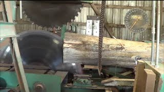 getlinkyoutube.com-Table Rock Lumber, Last log sawed at a 40+ year old sawmill