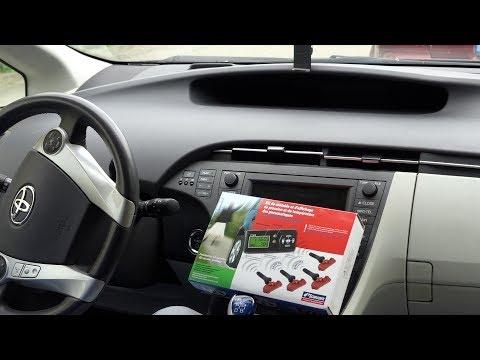 Prius TPMS система контроля давления в шинах приуса, установка и настройка Schrader AirAware
