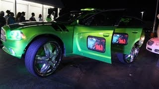 """getlinkyoutube.com-2012 King King Charger pull up on 32"""" DUB Ham Floaters & 1st 48 the parking lot (Memphis)"""