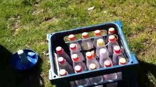 Liquid nitrogen bottle rockets! 720p