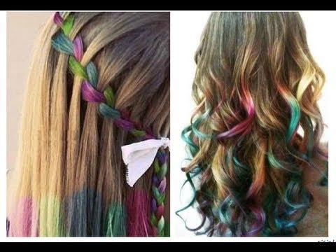 Pinta tu cabello de colores con tiza o gis