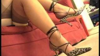 getlinkyoutube.com-IN LOVE WITH FEET // French Nylon Full Fashioned Brown Stockings Legs, Toes and High Heels 1/2