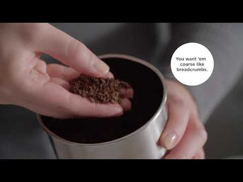 A video on how to make French press coffee.