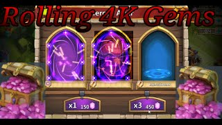 getlinkyoutube.com-Castle Clash 4k Gem Rolling & Uncover the Treasures for NeonShadoww