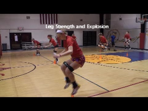 Volleyball Jump Training   Technique and Safety    Leg Strength   Part 4
