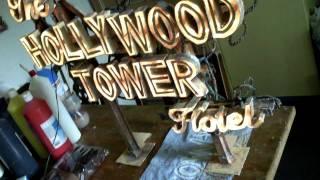 getlinkyoutube.com-Twilight Zone Hollywood Tower Hotel Sign - Tower of Terror