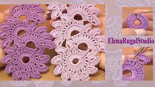 getlinkyoutube.com-Beautiful Crochet Lace Patterns  Урок 12 Вязание ленты в технике ленточного кружева