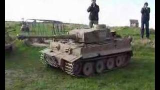 getlinkyoutube.com-1/4 Scale RC Tiger 1 Driving Around