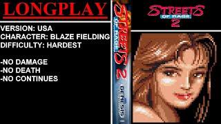 Streets of Rage 2 (Sega Mega Drive / Genesis) - (Longplay - Blaze Fielding | Hardest Difficulty)