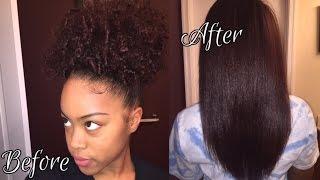 getlinkyoutube.com-3c/4a Natural Hair |  How I Straighten/Flat Iron